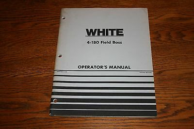 1976 Oliver White 4 180 Field Boss Original Owners Manual