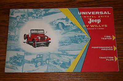 Jeep by Willys Advertising Sales Brochure with Options