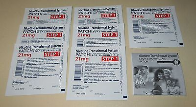 Nicotine Transdermal System Stop Smoking Aid Patch - STEP 1 - 21 mg.- 7 Patches