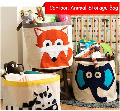Folding Cartoon Animal Home Clothes Childen Toys Storage Box Pouch Bag Basket