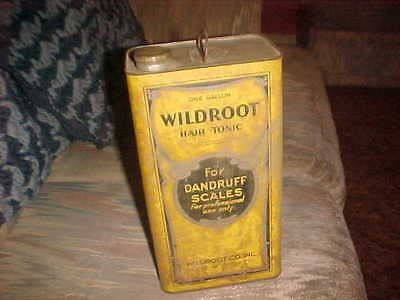 """Vintage """"Wildroot Hair Tonic"""" gallon can with lid nr"""