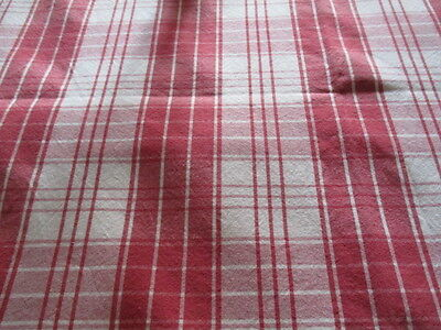 Vintage French Red Checked Bistro Café Summer Tablecloth