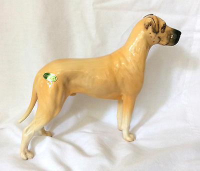 Large Beswick Great Dane Dog Figurine - Ruler of Ouborough with Foil Label