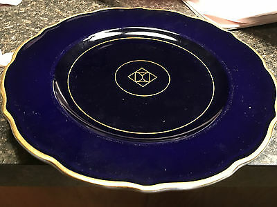 Syracuse China 100 D date code, set of 4, Indigo blue - Rare pattern Made in USA