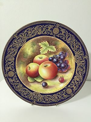Royal Worcester Fruit Plate Signed Leaman