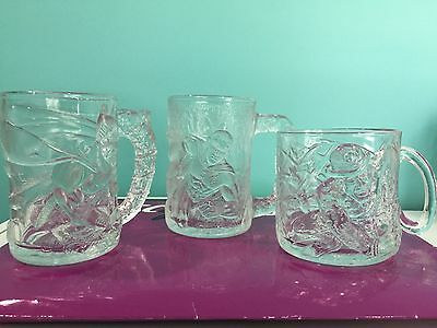 Batman Forever DC Comics 1995 Collectible Mugs made for McDonald's Lot of 3
