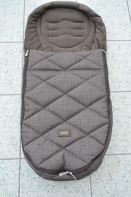 Mamas and Papas Chestnut Tweed Cold Weather PLUS Universal Footmuff Cosytoes
