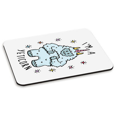 I'm A Yeticorn PC Computer Mouse Mat Pad - Funny Yeti Unicorn Animal
