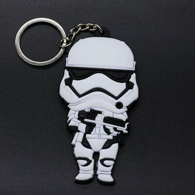 New Double Side Star Wars  Rubber Keyring Keychain bags Pendant