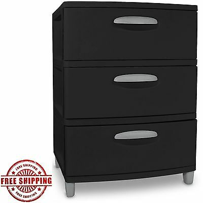 3 Drawer File Cabinet Storage Filling Office Home Organizer Black Furniture Cart