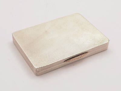 Art Deco Silver Calling Card Case, London 1934