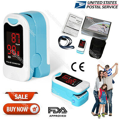 Finger Pulse Oximeter Blood Oxygen SpO2 PR Monitor Free Pouch&Lanyard CMS50M USA