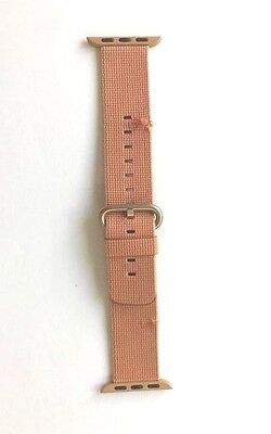 Apple - Woven Nylon for Apple Watch 38mm - Gold/Red MM9R2AM/A *HAS TWO CUTS*