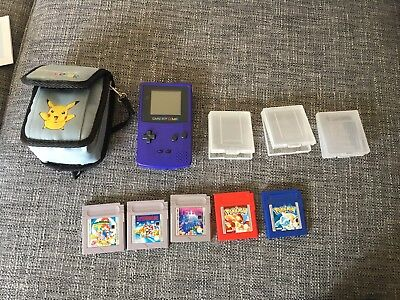 Gameboy Colour Pokemon, Mario And Tetris Games And Case