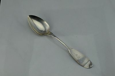 Early American Coin Silver Humiston Chapin Tablespoon NY New York  1853
