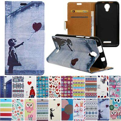 Card Holder PU Leather+TPU Flip Wallet Case Cover Stand Pouch For Xiaomi Wiko