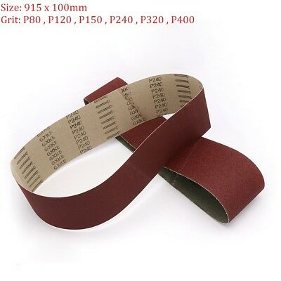 915x100mm Abrasive Sanding Belts 80 120 150 240 Grit For Wood Metal Belt Sander