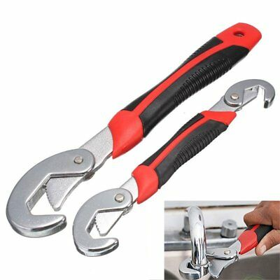2Pcs Functional Universal Quick Snap'N Grip Adjustable Wrench Spanner Tools