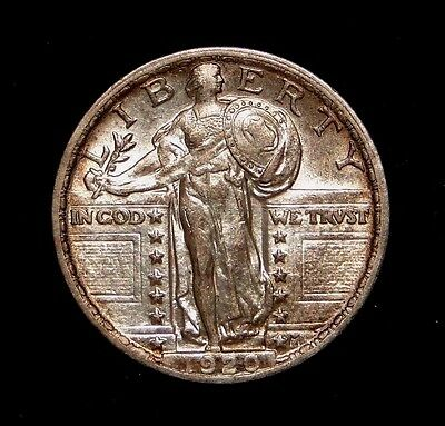 1920 Standing Liberty Quarter Rare Old U.s. Type Coin Problem Free