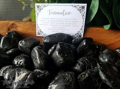 Tourmaline Black Schorl Tumbled Stone Gemstone Crystal Polished