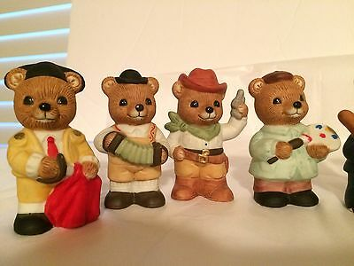 Vintage Lot of 10 HOMCO & HOME INTERIORS Teddy Bear 2 Inches Cute Figurines