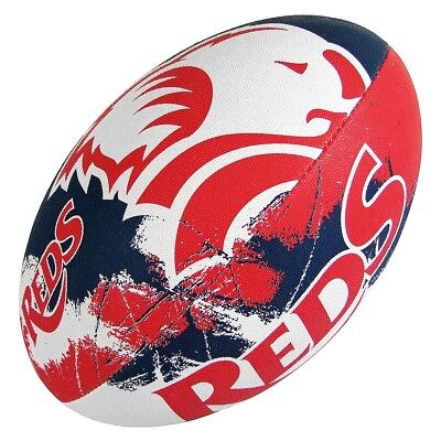 NEW Gilbert QLD Reds Supporter Rugby Union Ball   from Rebel Sport