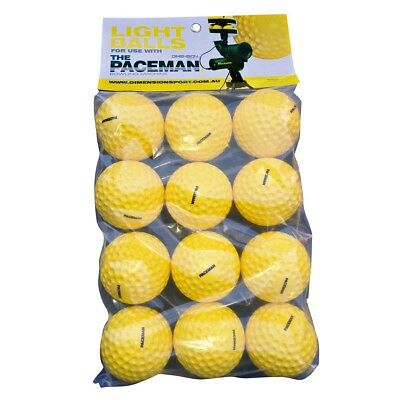NEW Paceman Bowling Machine 12 Pack Light Balls   from Rebel Sport
