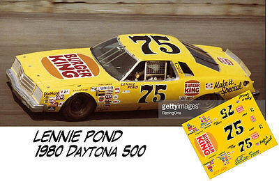 CD_2815 #75 Lennie Pond Buick Regal   1:25 Scale Decals