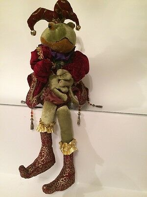 ADORABLE Frog Jester Weighted body and velvet costume