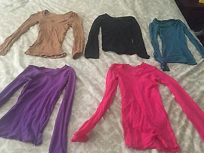 Adult Women's Nylon Dance Shirts good condition Size Small