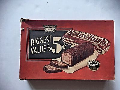 Vtg Original Curtiss Candy Co. Baby Ruth Candy Box  Only Chicago Usa