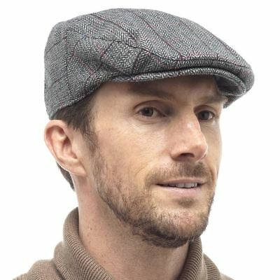 Tom Franks Men's Traditional Stylish Fashion Tweed Country Flat Cap Hat