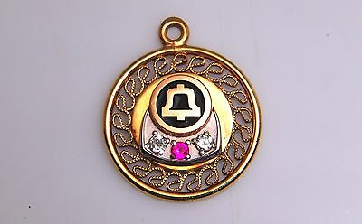 Bell System Telephone Co  Service Award -Pendant- G.F./ Diamond/Ruby