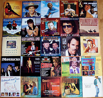LOT OF 25 CD'S VARIOUS COUNTRY ARTISTS Marty Robbins Gene Autry Mavericks & MORE