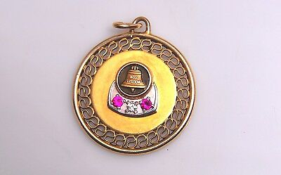 Bell System Telephone Co  Service Award -Pendant- G.F./ Diamond/Rubys
