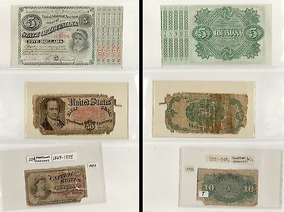 U.S. Notes Collection of 12, LA Baby Bond, Fractional, Japan Note [3255.45]