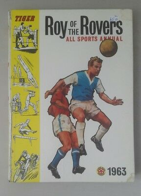 Roy of the Rovers All Sports Annual 1963 - tiger roy of the rovers by fleetway