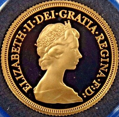 1979 UK Great Britain Proof Gold Sovereign Coin Box