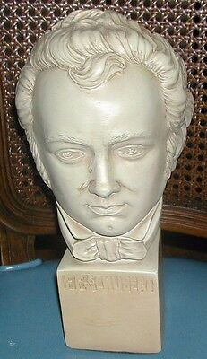 Vintage Chalk Bust of F.P.Schubert ESCO  Products NY