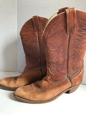 1980's Brown Leather Western Boots By Dexter Men's Size 10.5M USA Made used