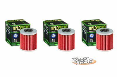 3 Genuine HiFLo HF 207 Oil Filter HF207 - Fits KX250F KX450F RM-Z250 RM-Z450 RMX