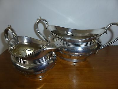 Antique Silver Plated Milk Jug And Sugar Bowl Joseph Rodgers And Son  Sheffield