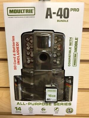 New 2018 Moultrie A-40 Pro Bundle 14 MP Infrared Game Trail Camera W/ Extras
