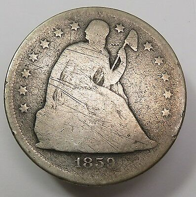 1859-O Silver Liberty Seated Dollar $1 US Coin Item #13645
