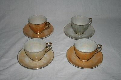 Japanese Tea Cups and Plates Set