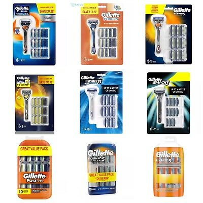 Gillette Fusion Pro-glide Pack Plus Razor and manual Blade 10 + More 100% Real