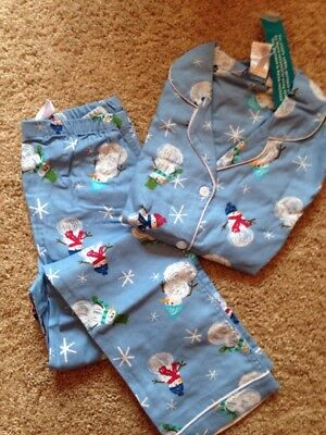 "XMAS IN JULY The company Store Child Classic Pajama SET SIZE 10/12 ""LET IT SNOW"""