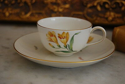Magnificent And Rare Kpm Berlin Us Zone Selb Mark  H P Demitasse Cup And Saucer