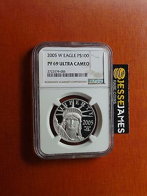 2005 W $100 Proof Platinum Eagle Ngc Pf69 Ultra Cameo Better Date!
