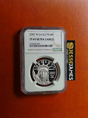 2007 W $100 Proof Platinum Eagle Ngc Pf69 Ultra Cameo Better Date!